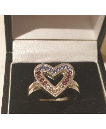 Art deco heart shaped ring