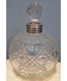 Birmingham 1905 silver collar perfume bottle.