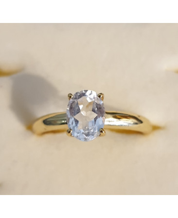 Vintage Silver plated cubic zirconia ring size P