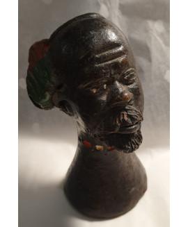 African figure heads