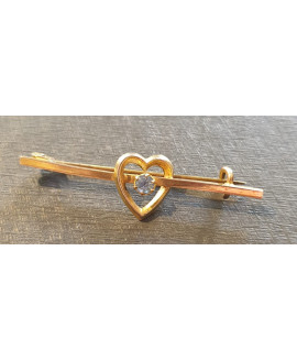 Beautiful rolled gold bar brooch