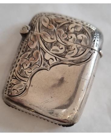 silver Victorian vesta case