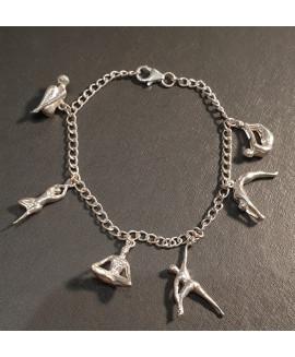 silver figurine bracelet