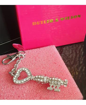 Butler and Wilson handbag charm/keyring key