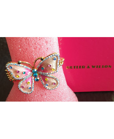 Butler and Wilson butterfly bracelet