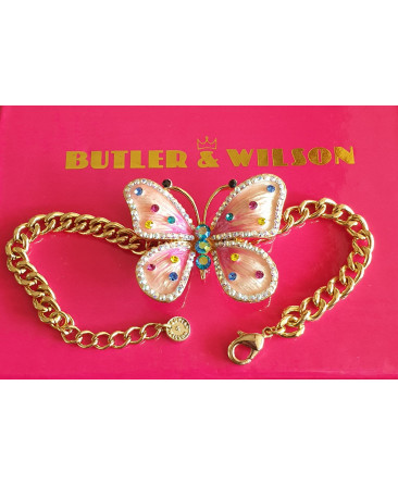 Butler and Wilson butterfly bracelet