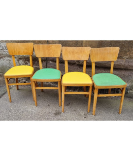 Retro set of four chairs